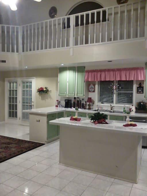 Kitchen View with Bar and Island