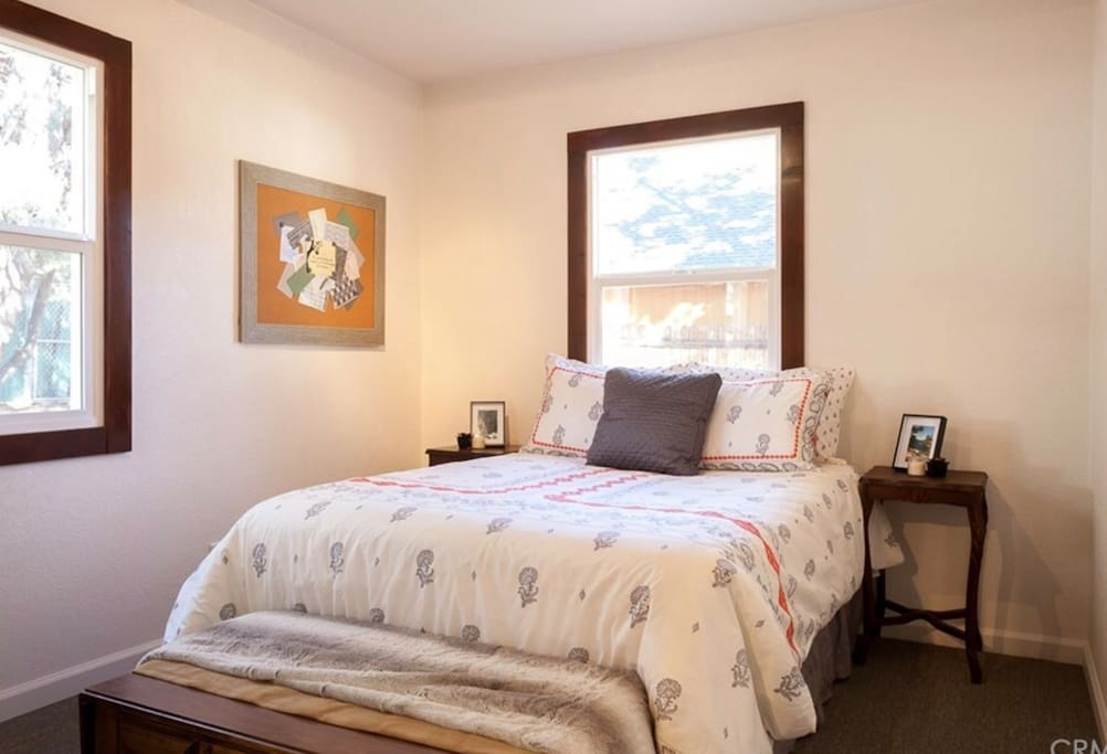 Private bedroom with queen size bed and closet