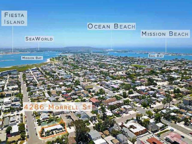 NEW Listing, charming, cozy Pacific Beach studio,