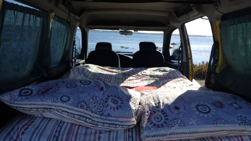 Surfer Van Berlingo with bed & camping equipment