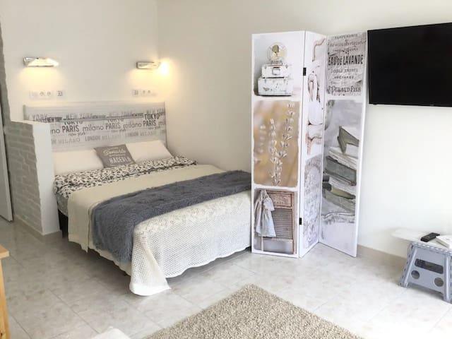 Comfortable bed 160 cm wide, medium-hard IKEA mattress