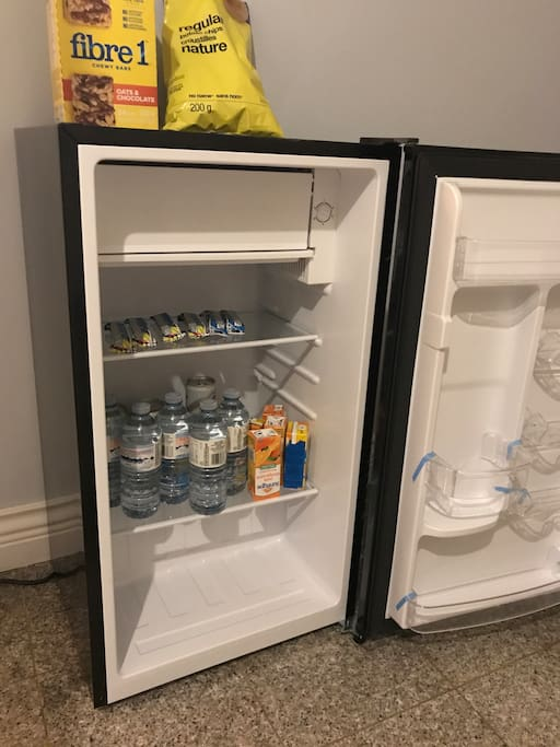 Your personal fridge beside your room