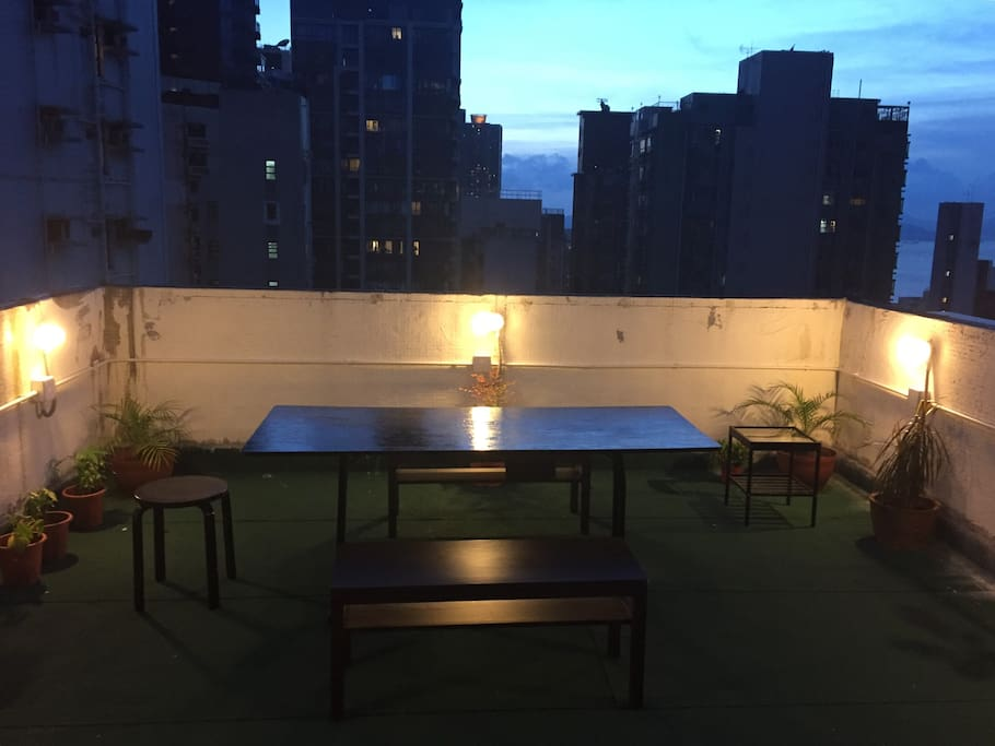 Our private rooftop
