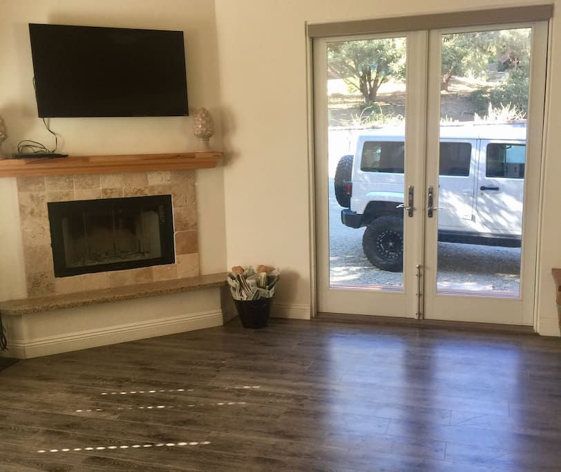 Living room - Jeep not included