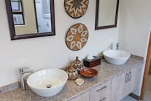 Rooibos Bush Lodge - Main bathroom with his and her basins