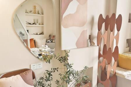 吾宿|room4|地铁旁贵阳北站森林公园ins韩系设计师loft全屋智能公寓