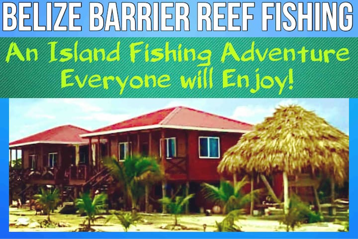 Island Waterfront views 🏝 of Belize Barrier Reef