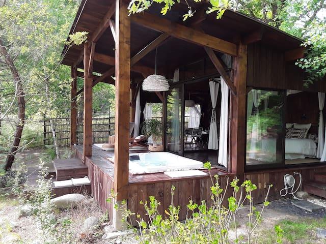 Le Lodge et son spa aux Landines