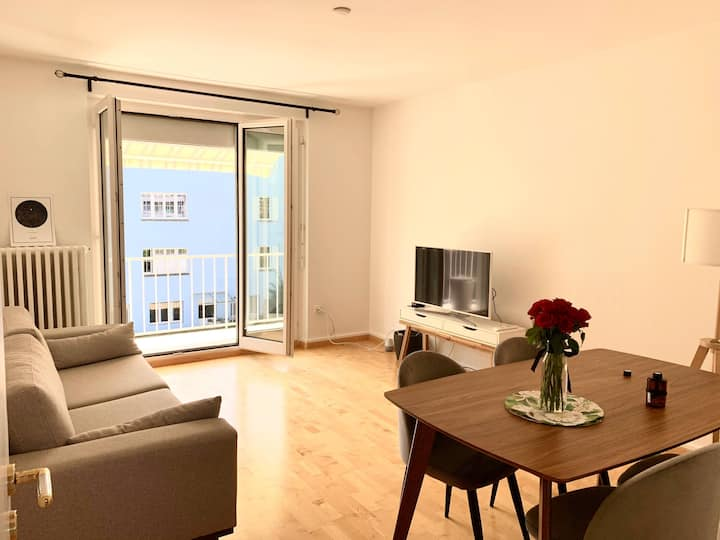 Cozy flat with balcony close to the city center
