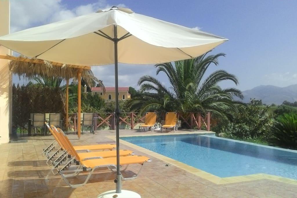 Plenty of lounge area around the pool