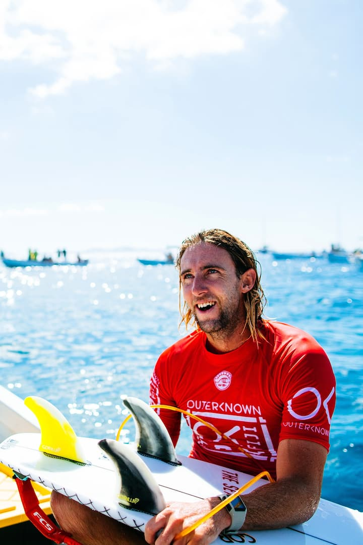 At the Outerknown Fiji Pro