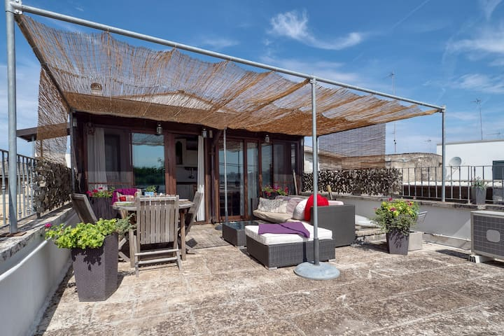Stylish accommodation with roof terrace - La Loggia di Nonna Olga