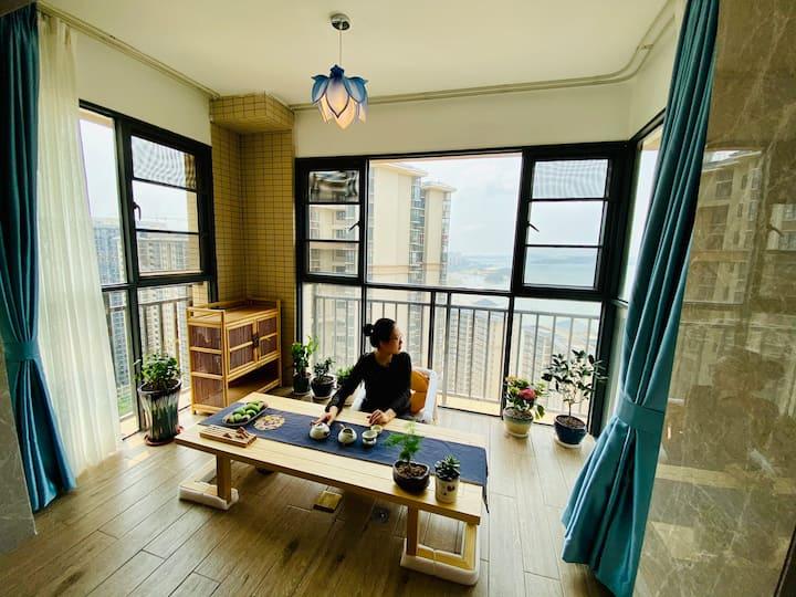【晱梦.云端海景房】俯瞰西海湾|楼下沙滩|海钓乐园|82平米一房一厅