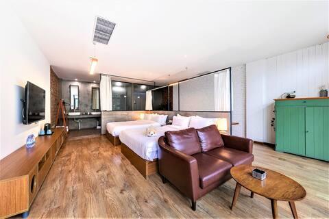 八达岭悦里·露台景观双床房 露台超棒景观