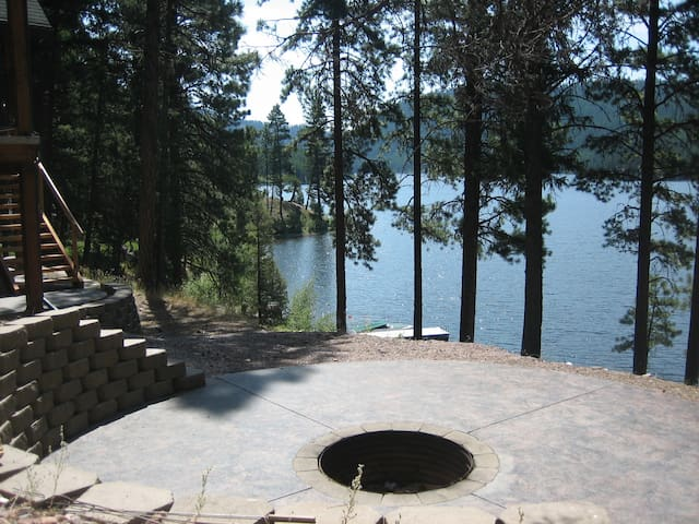 Fire-pit over looking Salmon Lake
