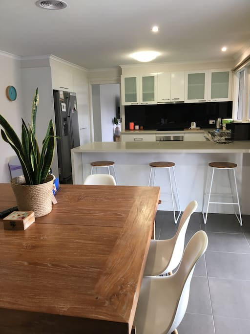 Our large modern, well equipped kitchen