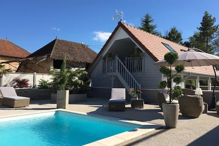 APPART ,TERRASSE PRIVEE,PISCINE,PETIT DEJEUNER - Villechétif - Bed & Breakfast
