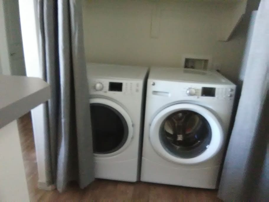 Washer/Dryer in the apartment.