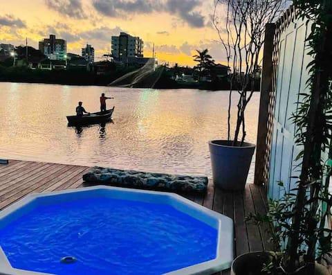 Charming lagoon house
