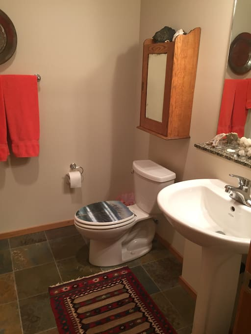 This is the private bathroom.