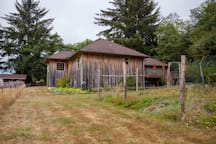 Outside view of your Elk House Retreat & deck. Your privacy & serene wilderness getaway is beautiful year round.