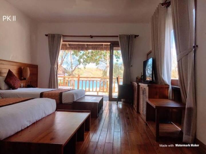 Qui Nhơn-Bungalow 2 bed-O.Sáu Resort Bãi Xếp -OS
