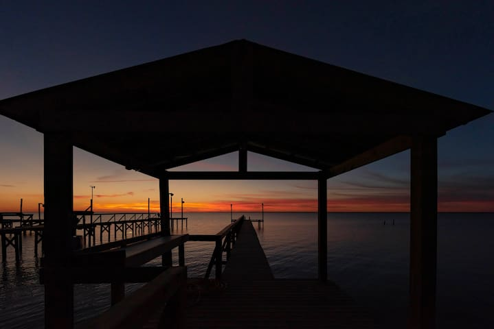 Gorgeous year round sunsets over Copano Bay