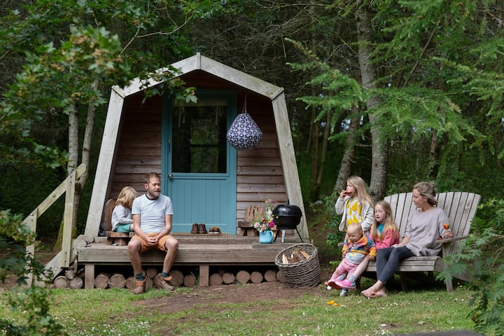 Glamping Cabins in 3 acres of Private Woodland
