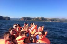 For those that want to go out the Knysna Heads on a boat cruise. See the whales in whale season and dolphins playing in the waves!