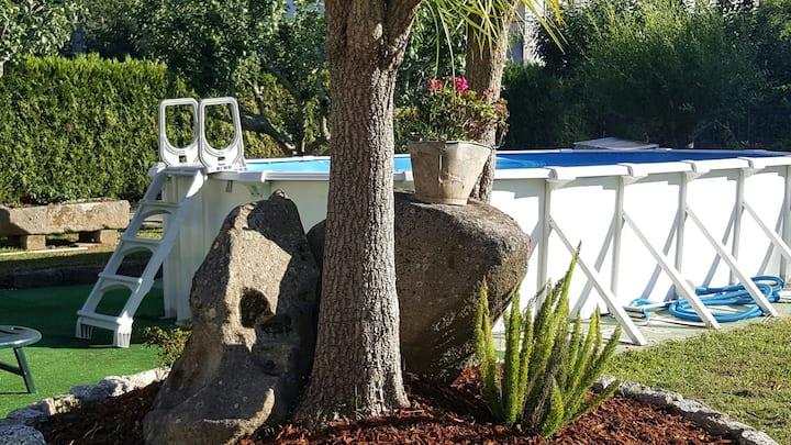Apto rural  3 dormitorios 2 baños Poio Pontevedra