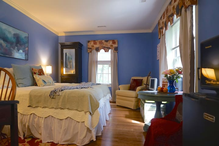 King Suite with Private Bath at Chez Stokesie - Charlottesville - House