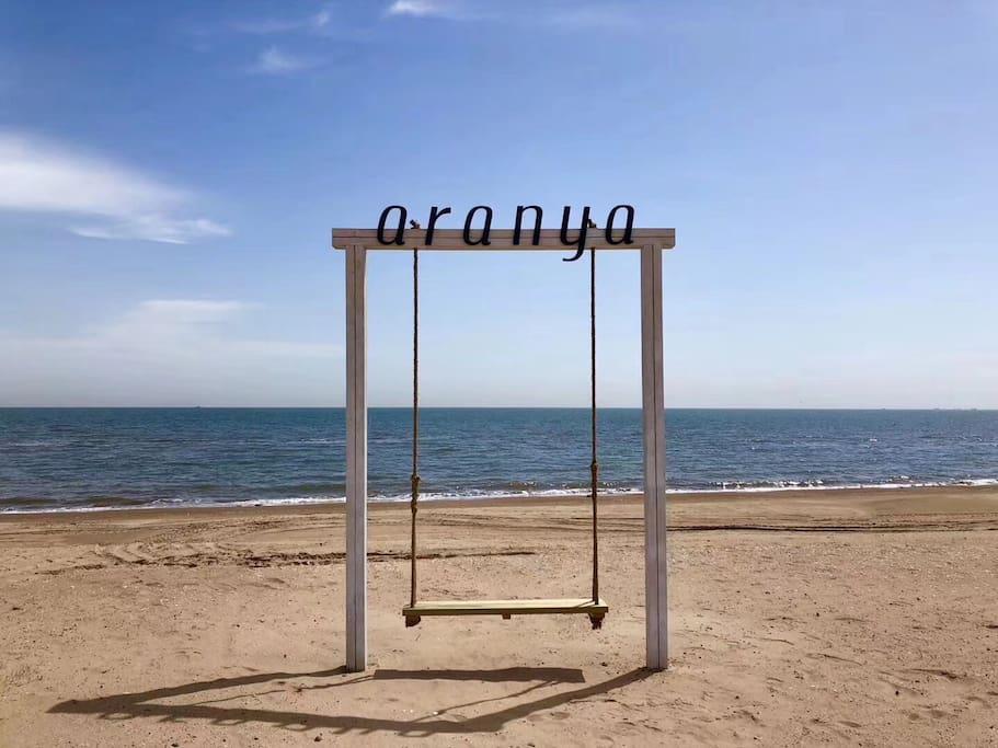 外景-阿那亚沙滩秋千