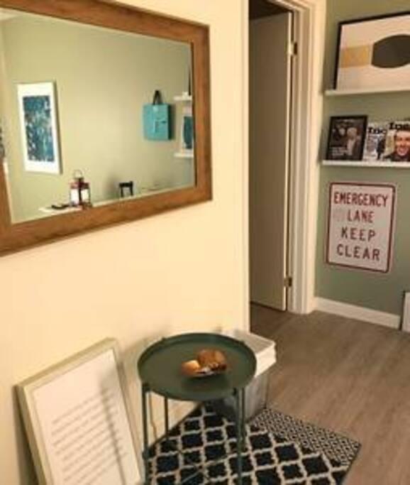 The corner of living room
