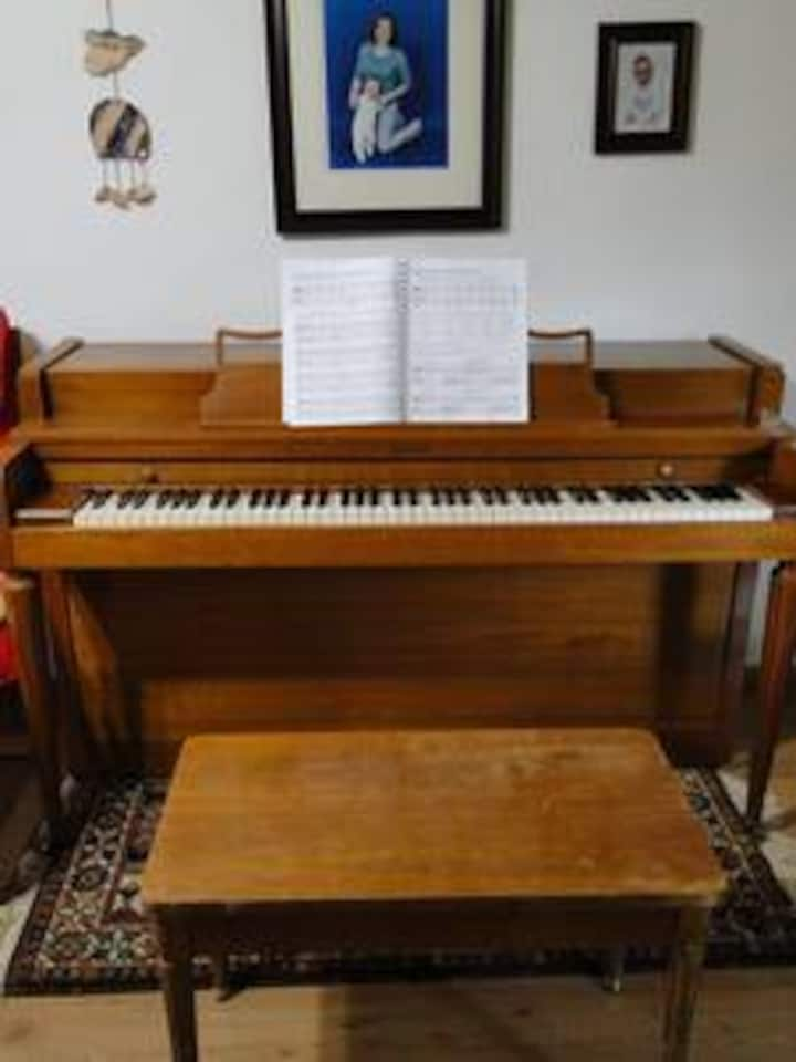A home of a piano