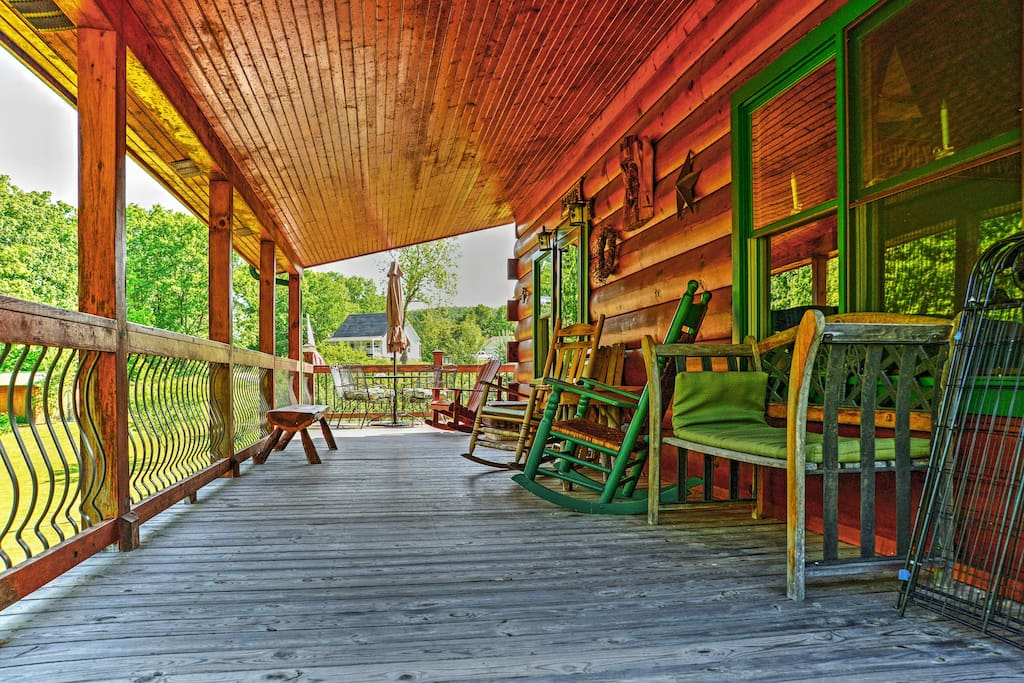 Spend warm afternoons on the spacious deck.