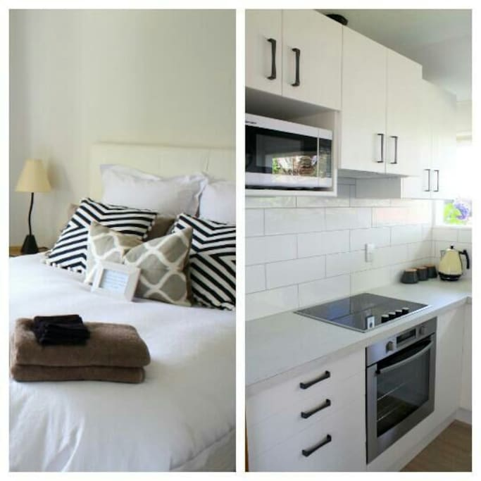 Main bedroom and kitchen