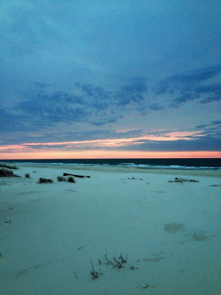 Pristine uncrowded beautiful white sand beaches