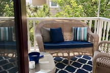 Cozy Porch for Coffee, Wine or any out of the sun tranquil quality time