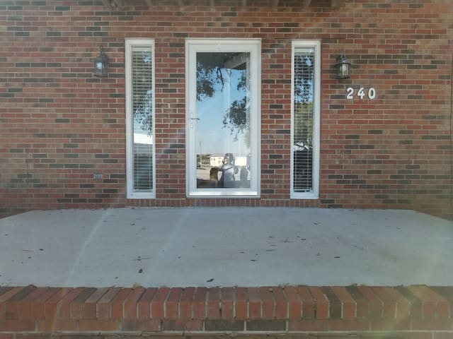 Large front porch facing the street.