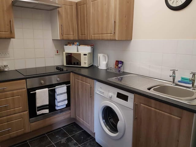 Fully fitted kitchen with complimentary continental breakfast