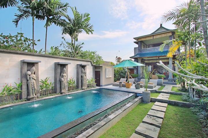 2BR Private Rice field villa