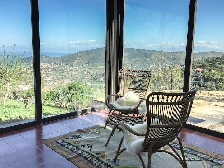 180 Grad Berge und Meer - Casa Alloro