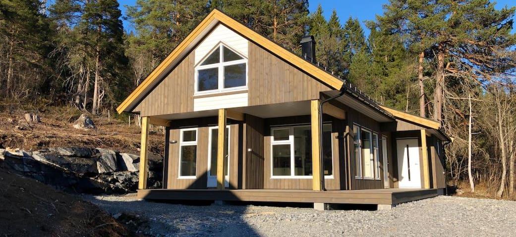 Ny moderne hytte  med flott utsikt