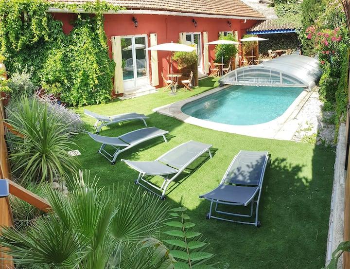 Gîte Fraise Basilic piscine/WIFI/Clim Vacqueyras