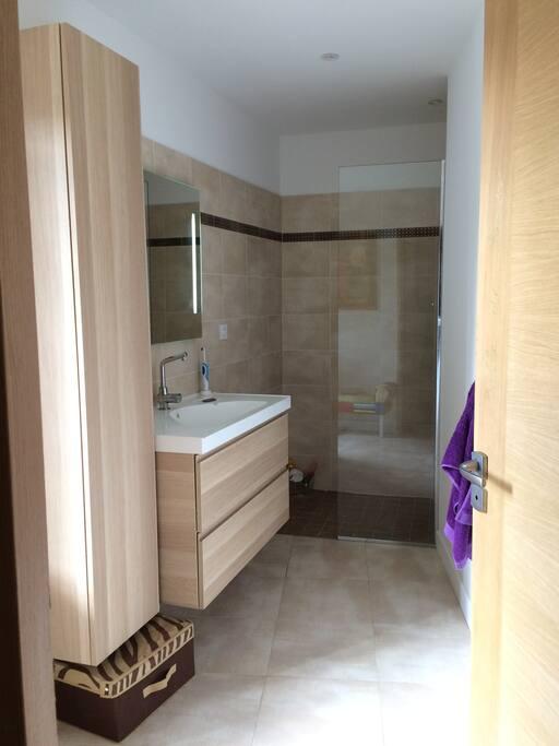 Salle du bain douche italienne