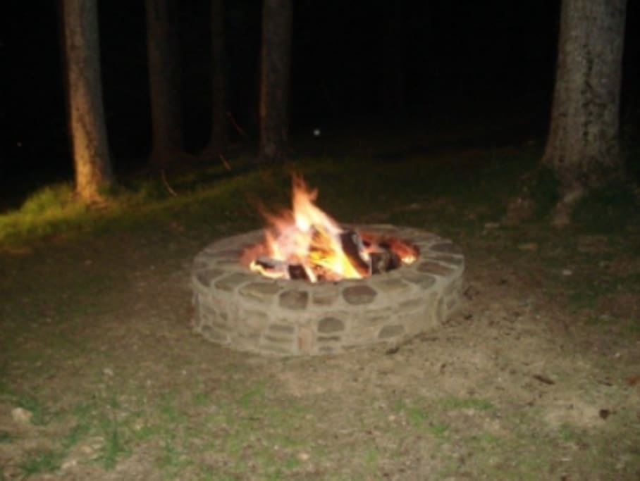 Fire pit...Bring the hot dogs and s'mores!