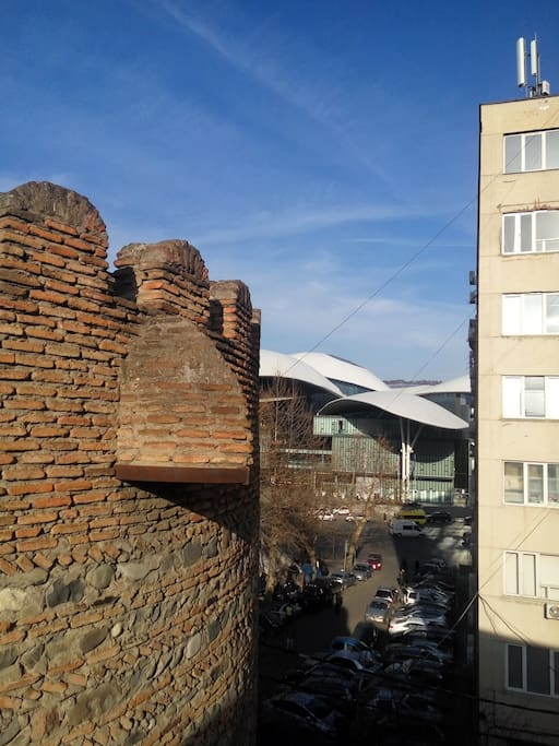 Tower of XIX century and Pablic Centre - views from the window