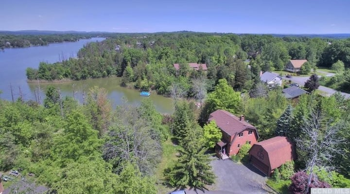 Private lake-front home with great views