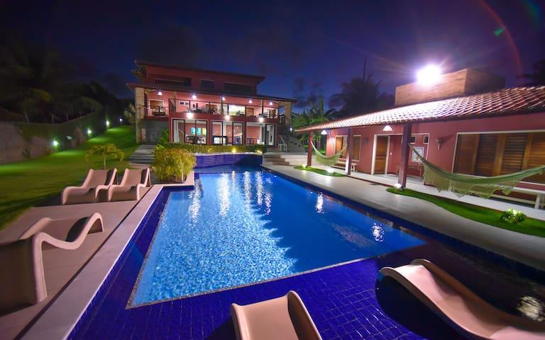 Belíssima casa a beira lagoa para família - Marechal Deodoro - House
