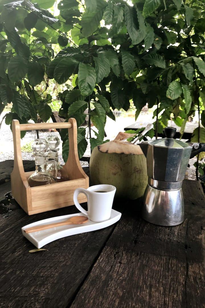 Coconut juice coffee